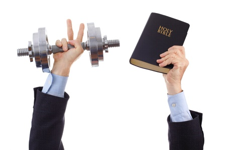 Businessman overcoming all difficulties because it works according to the Word of God