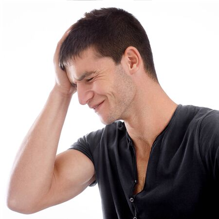 Young handsome man making fun for something Stock Photo - 16495200