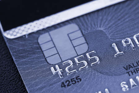 Macro of credit card in blue style Stock Photo - 15224610