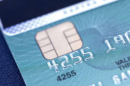 Macro of credit card in blue style Stock Photo - 15789240