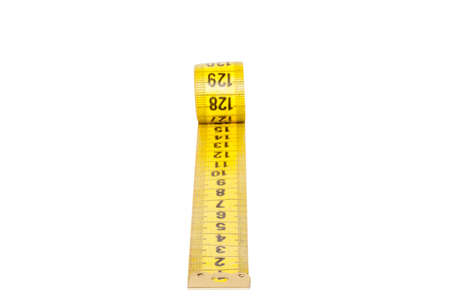 Measuring tape of the tailor isolated on white background photo