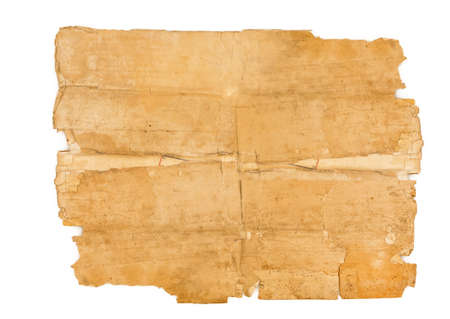 Very old paper isolated on white background