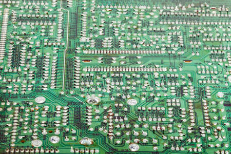 closeup of the electronic circuit board background Stock Photo