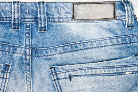 Blue jeans denim pocket bacground texture Stock Photo