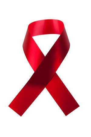 AIDS Awareness Ribbon isolated on white background Stock Photo