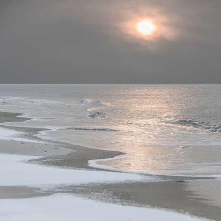 winter sun at the north sea photo