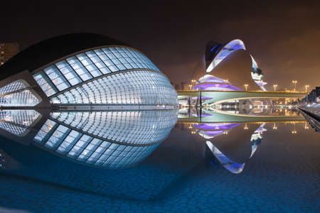Valencia, Spain - November 7, 2015: The City of Arts and Sciences is an entertainment-based cultural and architectural complex in the city of Valencia, Spain. It is the most important modern tourist destination in the city of Valencia.