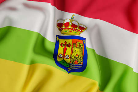 La Rioja official flag.3D render illustration