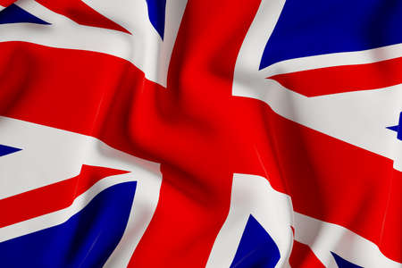 UK flag, Union Jack.3d illustration