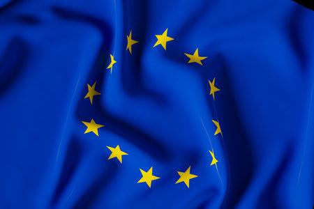 official flag of the european union 3d render illustration
