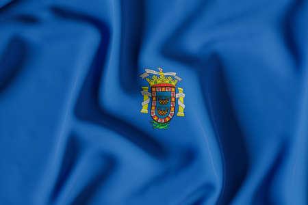 Melilla official flag.3D render illustration
