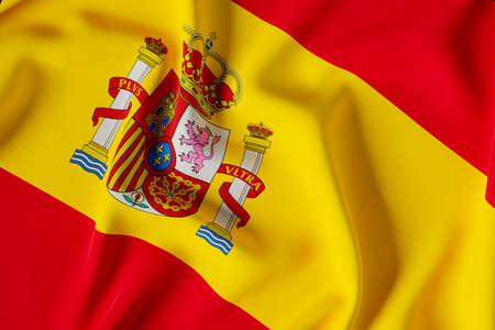 Spain official flag.3d illustration