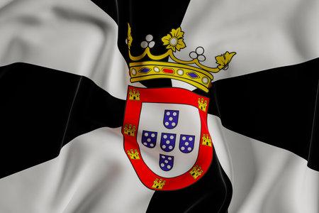 Ceuta official flag.3D render illustration