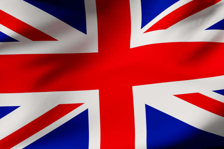 UK flag (Union Jack) .3d illustration
