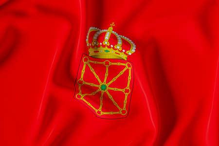 Navarra official flag.3D render illustration