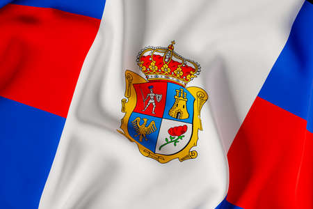 Reinosa oficial flag.3D render illustration Foto de archivo