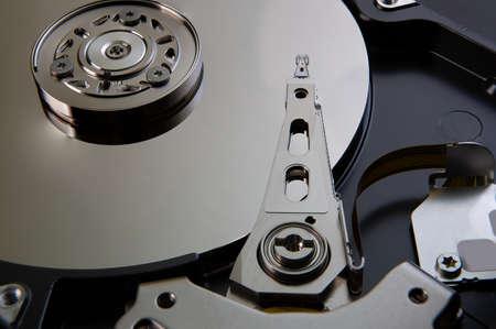Inside of a hard drive HDD Foto de archivo