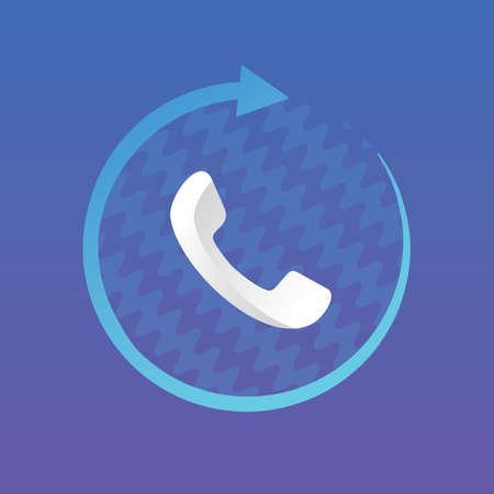 call recorder logo and icon vector Isolated