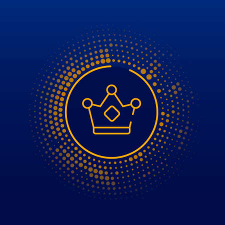 crown logo and icon vector Isolated image