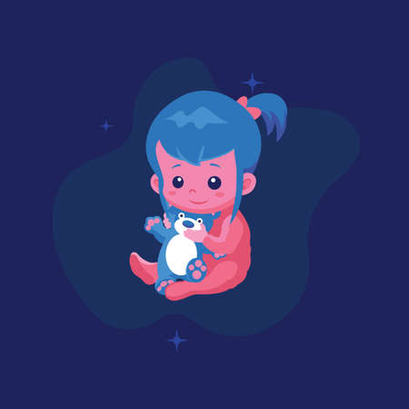 baby ogo and icon vector Isolated image