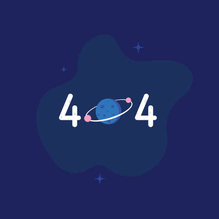 404 error logo and icon vector Isolated image 矢量图像