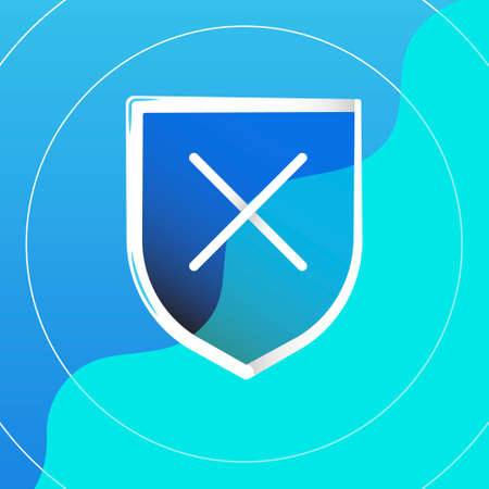 shield protection logo and icon vector Isolated image