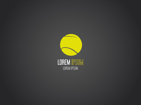 circle design: Tennis ball logotype. Logo design. Illustration