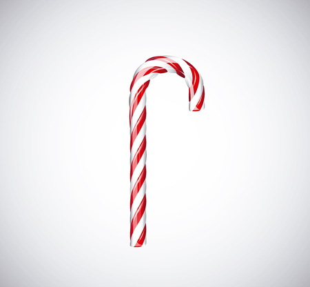candy canes: Traditional christmas candy canes isolated on white background. Illustration