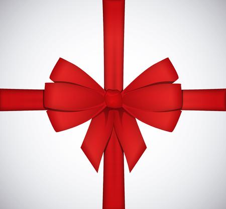 Glanzend rode satijnen lint strik op een witte achtergrond. Stockfoto - 49037666