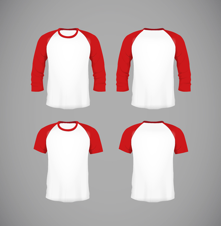 Mens slim-fitting short sleeve baseball shirt set. Black Mock-up design template for branding.