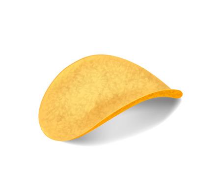 Tasty seasoned sliced crispy potato chips.