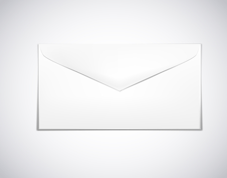 White envelope paper isolated