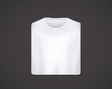 White folded t-shirt mockup isolated. Ilustrace