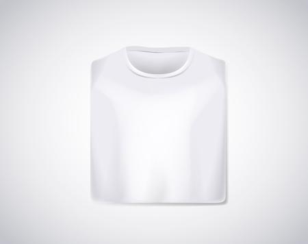 White folded t-shirt mockup isolated. Stock Illustratie