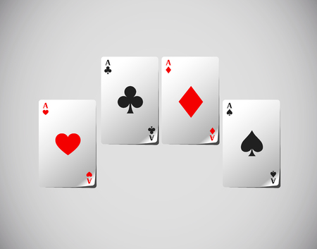 Poker cards, Poker aces isolated. Playing cards. Standard-Bild - 117663925