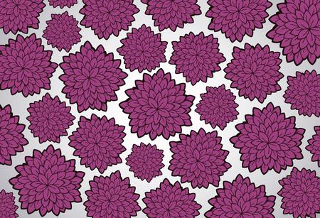 Vector tattoo floral background. Floral doodle pattern.