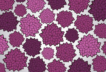 Vector tattoo pink floral background. Floral doodle pattern.