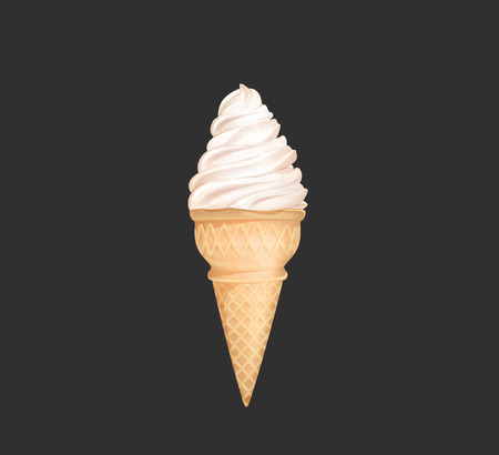 Soft serve ice cream isolated on white background