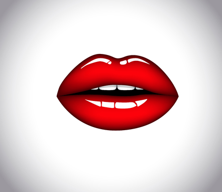Red female sexy woman lips