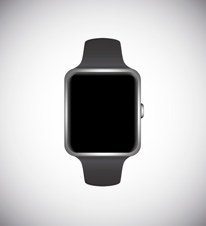 Smart watch concept isolated on white background. Silver edition.Vector illustration.