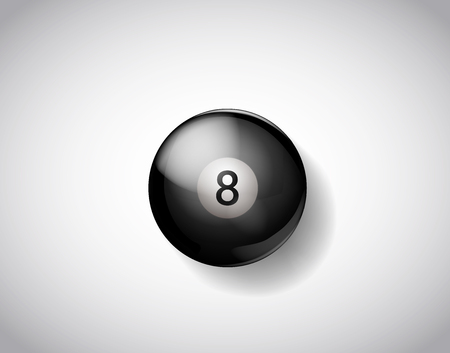 Eight ball pool. Vector illustration billiards isolated. 8 Ball for Snooker pool. Billiard Balls.  イラスト・ベクター素材