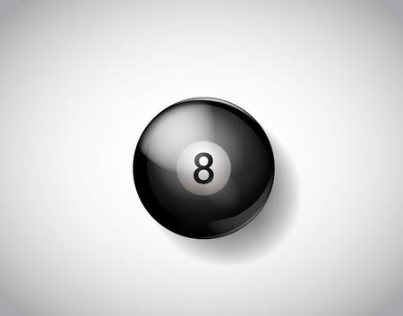 Eight ball pool. Vector illustration billiards isolated. 8 Ball for Snooker pool. Billiard Balls. Illustration