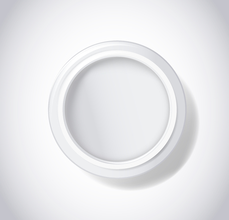 Package empty cream pot.  Cosmetic package for skin face care. Top view vector illustration.