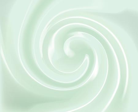 Vector mint, green Swirl Cream Texture Background