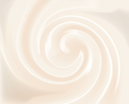 Vector Vanilla Swirl Cream Texture Background