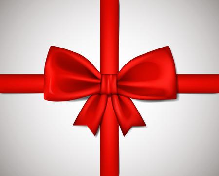 Realistische rote Schleife isoliert auf weißem Hintergrund. Vektor-Illustration. Vektorgrafik