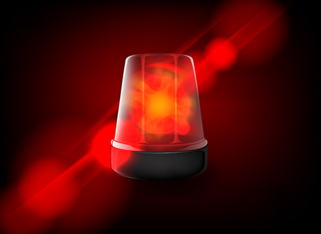 Red emergency flashing siren. Vector Banque d'images - 125014203
