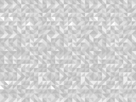 White triangle tiles seamless pattern, vector background. Illustration