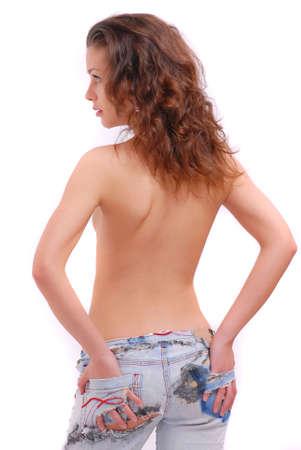 bare girl: Portrait of beautiful bare girl Stock Photo
