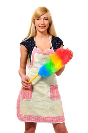 charlady: picture of beautiful woman with cleaning sweep